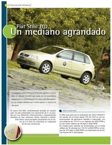 El nuevo Fiat Stilo, recientemente lanzado en ... - CESVI Argentina
