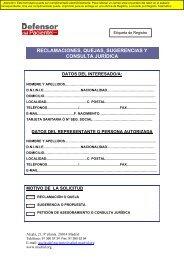 00. Reclamaciones, quejas, sugerencias y consulta jurídica