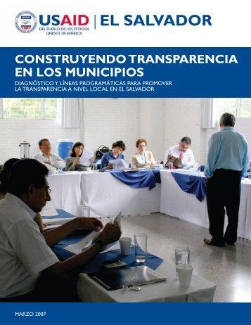 Construyendo Transparencia en los Municipios - USAID/El Salvador ...