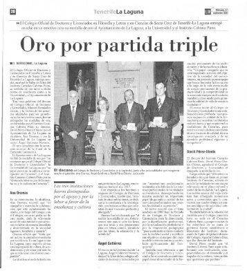 Oro por partida triple - IES Canarias Cabrera Pinto
