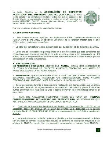 La Junta Directiva de la ASOCIACIÓN DE DEPORTES ACUATICOS ...
