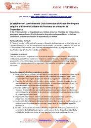 ASEM INFORMA - ASEM Galicia