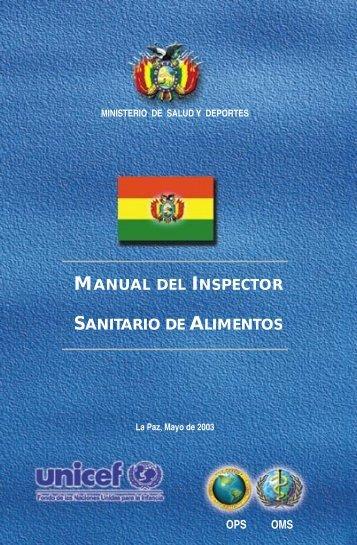 manual del inspector sanitario de alimentos - Organización ...