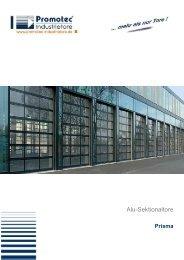 Alu-Sektionaltore - Promotec Industrietore