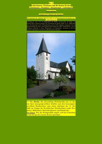BL 25 Lieberhausen, Wiedenest und die Bonten Kerken ...