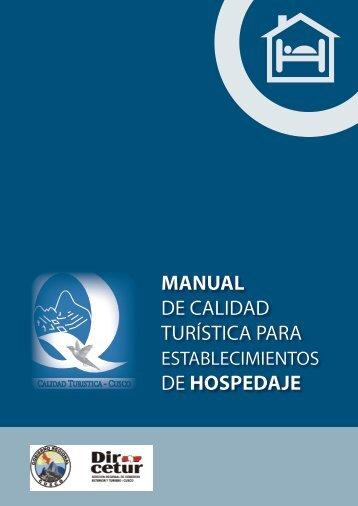 manual de calidad turística para de hospedaje - Bienvenidos a la ...