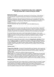Integrando la transportación con la naturaleza: plan para - BVSDE ...