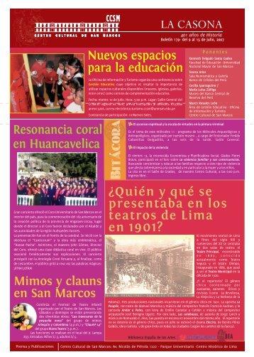 Boletín 179 - Centro Cultural de San Marcos CCSM