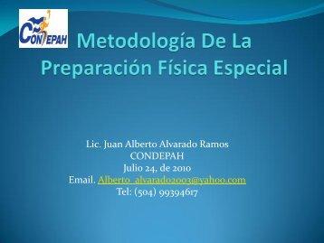 Metodología De La Preparación Física Especial - Condepah