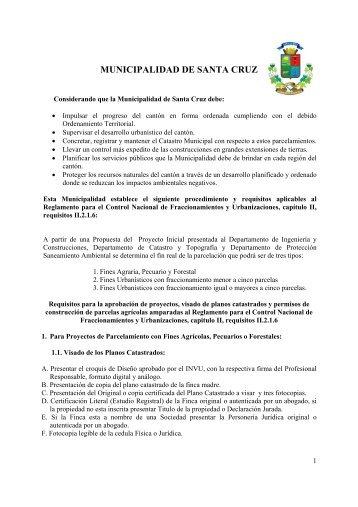 MUNICIPALIDAD DE SANTA CRUZ - Colegio de Ingenieros Civiles ...