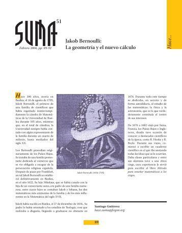 Jakob Bernoulli - SUMA Revistas de matemáticas