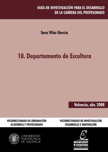Departamento de Escultura - Universidad Politécnica de Valencia