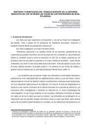 sentidos y significados del trabajo docente en la reforma educativa ...