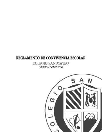 REGLAMENTO DE CONVIVENCIA ESCOLAR COLEGIO SAN MATEO