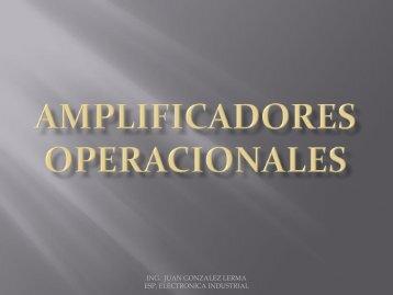 ING. JUAN GONZALEZ LERMA ESP. ELECTRONICA INDUSTRIAL