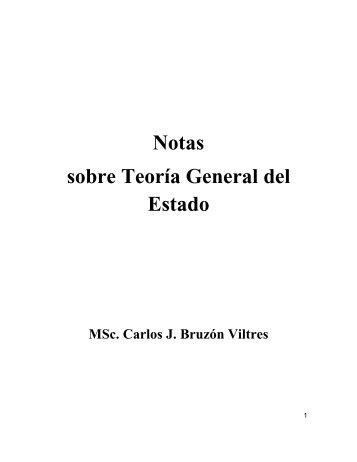 Notas sobre Teoría General del Estado - Fundación de ...