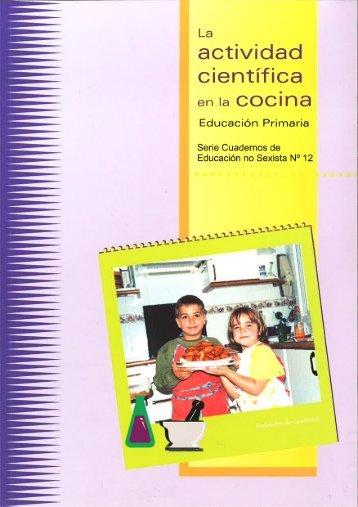 Nº 12. La actividad científica en la cocina - Instituto de la Mujer