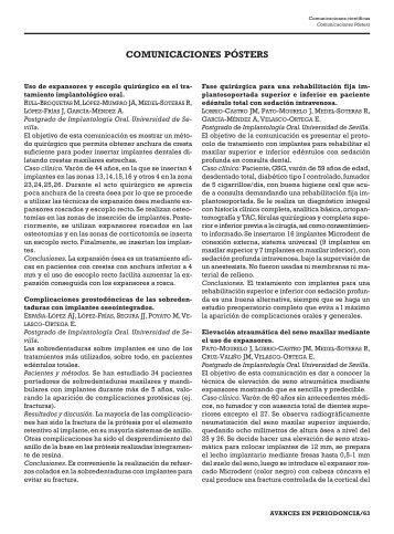 COMUNICACIONES PÓSTERS - SciELO España
