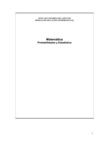 matematica y probabilidades - Dirección General de Cultura y ...