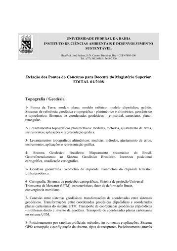Pontos concurso – Topografia e Geodésia - Concursos ...