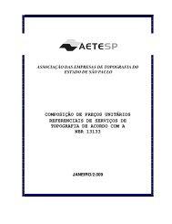 composição de preços unitários referenciais de serviços
