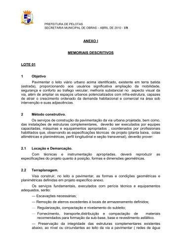 Anexo I - Prefeitura Municipal de Pelotas