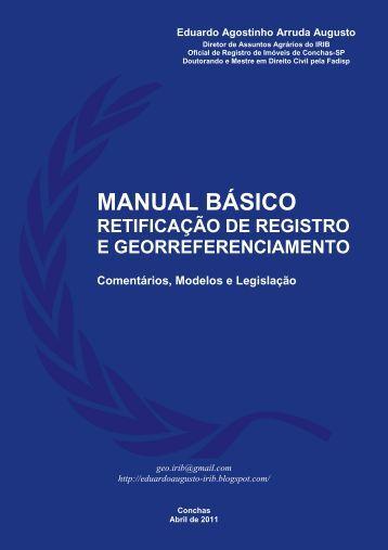 Manual de Retificação e Georreferenciamento - Gasparim Sat