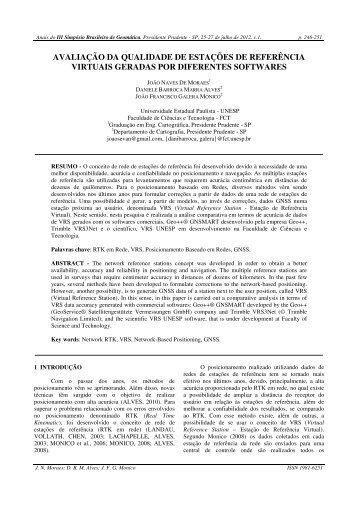 avaliação da qualidade de estações de referência virtuais ... - Unesp