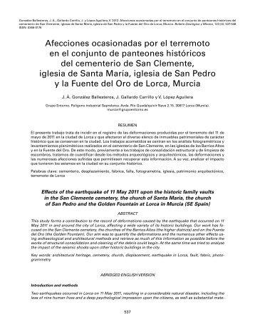 J. Á. González Ballesteros, J. Gallardo Carrillo y V. López Aguilera