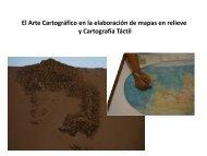 Cartografía en relieve y cartografía Táctil