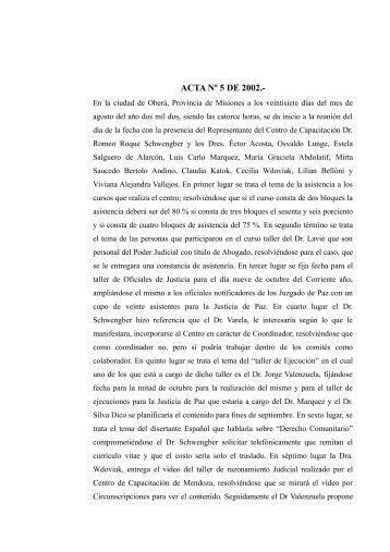 Acta 5_02.pdf - Poder Judicial de la Provincia de Misiones
