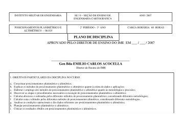 plano de disciplina aprovado pelo diretor de ensino do ime em ___ ...