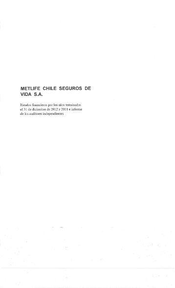 Publicación de Estados Financieros e Informe de Auditores ... - Metlife
