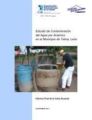 Estudio de arsénico OPS - Informe final 2011 - Nuevas Esperanzas