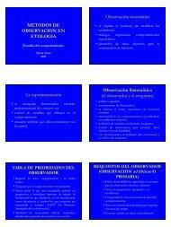 METODOS DE OBSERVACION EN ETOLOGIA ... - Etología