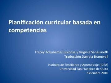 Planificación curricular basada en competencias - Instituto de ...