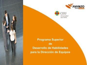 Programa Superior de Desarrollo de Habilidades para la Dirección ...