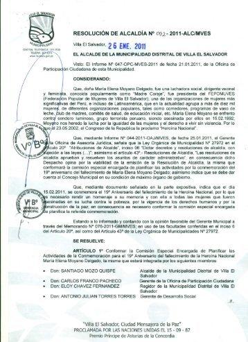 Conformar la Comisión Especial Encargada de Planificar las ...