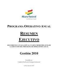 Seguimiento y Evaluación al Programa Operativo anual 2010