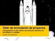 Taller de formulación de proyectos - PIE>A