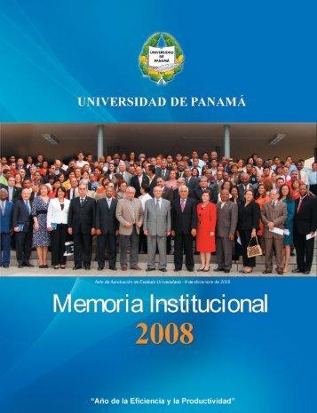 Memoria Institucional - Universidad de Panamá