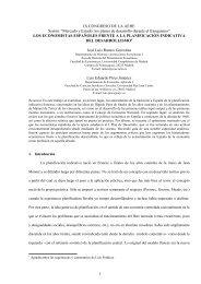 Los economistas españoles frente a la planificación indicativa del ...
