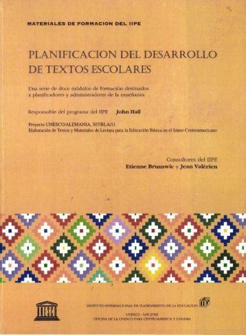Planificación del desarrollo de textos escolares ... - unesdoc - Unesco