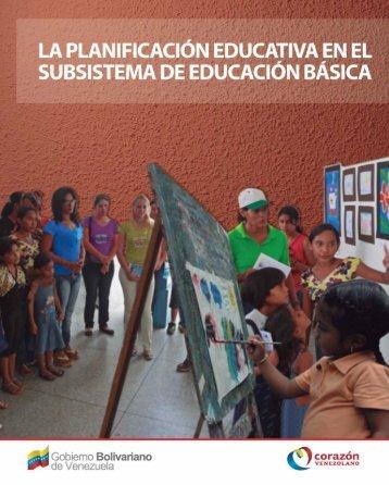 La planificación Educativa en el Subsistema de Educación Básica