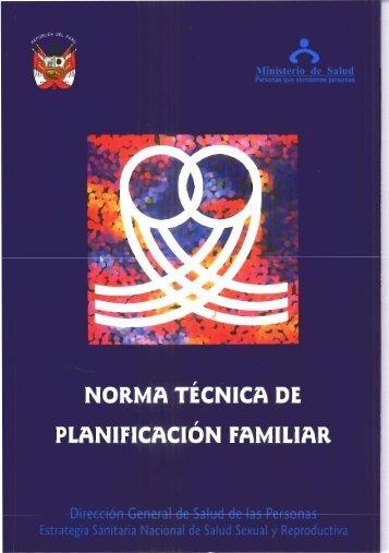 NORMA TÉCNICA DE PLANIFICACIÓN FAMILIAR - BVS Minsa ...