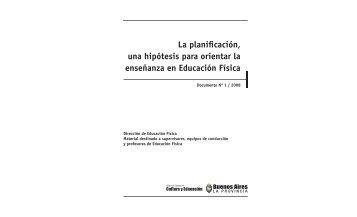 la planificación.indd - Dirección General de Cultura y Educación