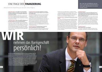 nehmen das Bankgeschäft - PSD Bank Berlin-Brandenburg eG