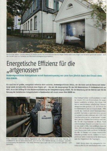 Pressebericht BHKW - PS-Gebäudetechnik