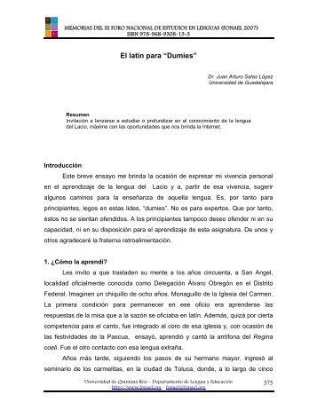 Dumies - Foro de Estudios en Lenguas Internacional - Universidad ...