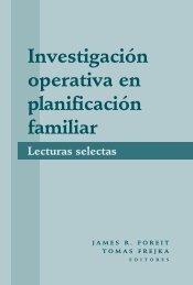 Investigación operativa en planificación familiar: Lecturas Selectas